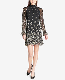 Tommy Hilfiger Woodland Floral Mock-Neck Dress