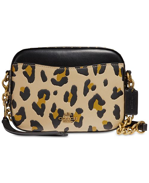 753b875f9355 COACH Leopard Small Camera Bag & Reviews - Handbags & Accessories ...