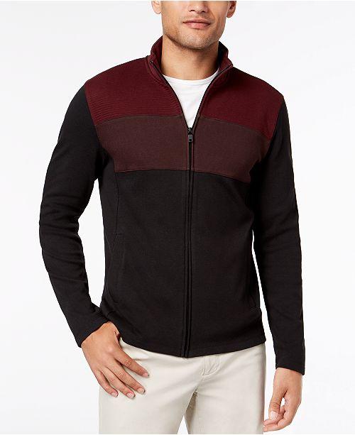 Alfani Men's Colorblocked Full-Zip Jacket, Created for Macy's
