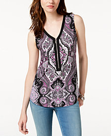 I.N.C. Zip-Front Tank Top, Created for Macy's