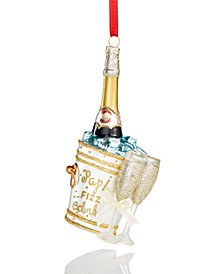 Holiday Lane Champagne Ornament, Created for Macy's