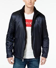 Calvin Klein Men's Fuzzy Sherpa Lined Windbreaker
