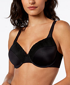 Bali Passion for Comfort Lace Back Smoothing Underwire with Light Lift Bra DF0082