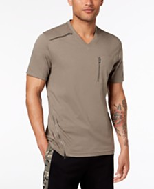 I.N.C. Men's V-Neck Zipper T-Shirt, Created for Macy's