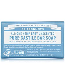 Dr. Bronner's Baby Unscented Pure-Castile Bar Soap