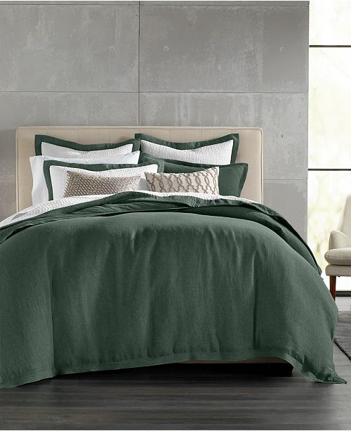 Hotel Collection  CLOSEOUT! Linen Full/Queen Duvet Cover, Created for Macy's