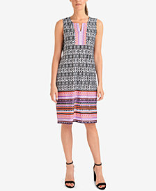 NY Collection Printed Shift Dress