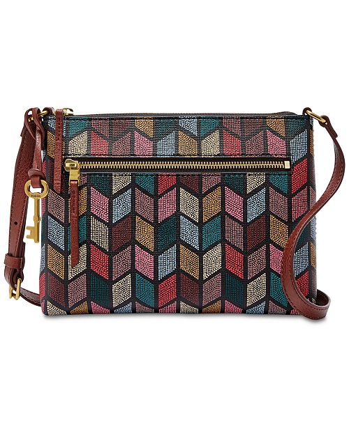 525c416d3d Fossil Fiona Printed Small Fabric Crossbody   Reviews - Handbags ...