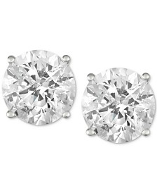 Diamond Stud Earrings (3 ct. t.w.) in 14k White Gold