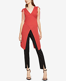 BCBGMAXAZRIA Shoulder-Tie Crisscross Tunic