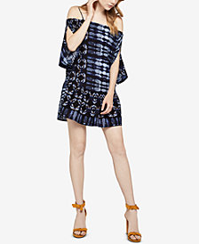 BCBGeneration Patchwork Off-The-Shoulder Dress