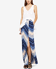 BCBGeneration Shibori Chevron Maxi Skirt