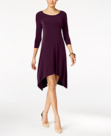 Alfani Knit Handkerchief-Hem Dress, Created for Macy's