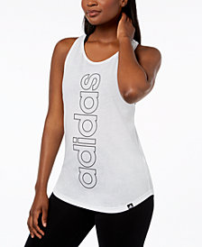 adidas ClimaLite® Linear Logo Racerback Tank Top