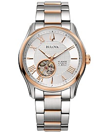 Bulova Men's Automatic Wilton Two-Tone Stainless Steel Bracelet Watch 42mm