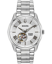 Bulova Men's Automatic Wilton Stainless Steel Bracelet Watch 42mm