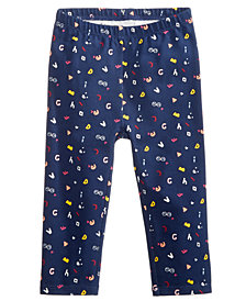 First Impressions Baby Girls ABC Graphic-Print Leggings, Created for Macy's