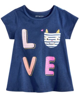 Toddler Girls Graphic-Print Pocket Cotton T-Shirt, Created for Macy's