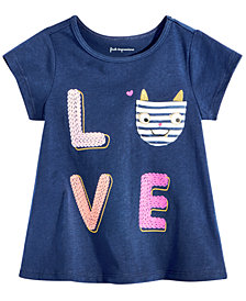 First Impressions Toddler Girls Graphic-Print Pocket Cotton T-Shirt, Created for Macy's
