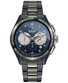 Rado Men's Swiss Automatic Chronograph HyperChrome Match Point Plasma High-Tech Ceramic Strap Watch 45mm - a Limited Edition