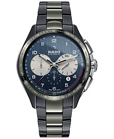 LIMITED EDITION Rado Men's Swiss Automatic Chronograph HyperChrome Match Point Plasma High-Tech Ceramic Strap Watch 45mm - a Limited Edition