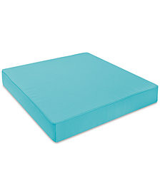 Soft-Tex 24x24 Aqua Outdoor Memory Foam Seat Cushion with Sunbrella Fabric, Quick Ship