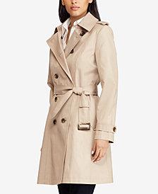 Lauren Ralph Lauren Plus Size Double Breasted Trench Coat
