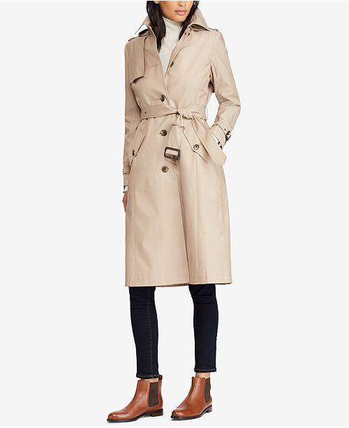 fea2a96b0 Lauren Ralph Lauren Belted Hooded Trench Coat   Reviews - Coats ...