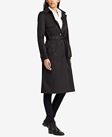 Water-Resistant Belted Hooded Single Breasted Trench Coat