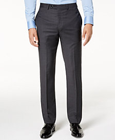 Calvin Klein Men's Slim-Fit Gray/Blue Plaid Suit Pants