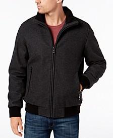 Men's Full-Zip Wool Bomber Jacket