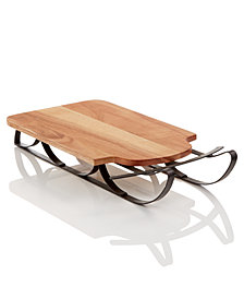 Martha Stewart Collection Wood Sled Serving Board