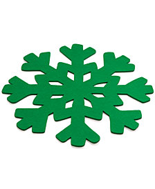 The Cellar Green Snowflake Charger, Created for Macy's