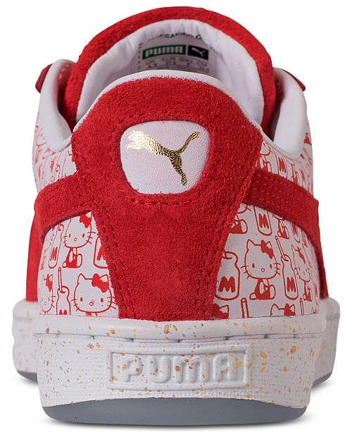 55e1be0474d ... Puma Women s x HELLO KITTY Suede Classic Casual Sneakers from Finish ...