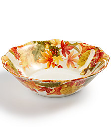 222 Fifth Autumn Celebration Harvest Round Serving Bowl