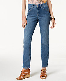 Style & Co Rail Tummy-Control Straight-Leg Jeans, Created for Macy's
