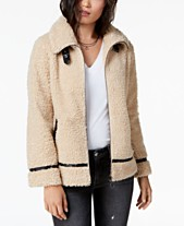 7f551e0b011c8 Madden Girl Juniors  Faux-Fur Teddy Jacket
