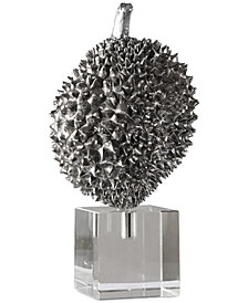 Uttermost Durian Silver Sculpture