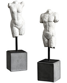 Uttermost Valini Torso Sculptures, Set of 2