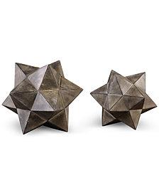Uttermost Geometric Stars Set of 2 Concrete Sculptures