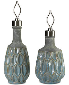 Uttermost Arpana Blue And Gray Bottles, Set of 2