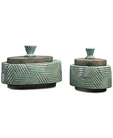 Uttermost Ruth Ceramic Boxes, Set of 2