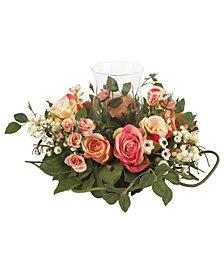 Nearly Natural Rose Candelabrum Artificial Arrangement