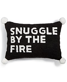 "Martha Stewart Collection Snuggle By The Fire 14"" x 20"" Decorative Pillow, Created for Macy's"