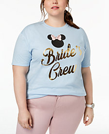 Disney Plus Size Cotton Bride's Crew Graphic-Print T-Shirt