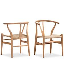 Caden Wishbone Chair (Set of 2)