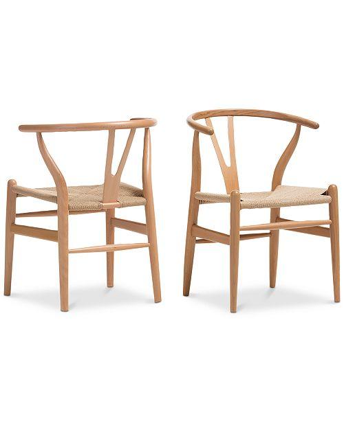 Furniture Caden Wishbone Chair (Set of 2)