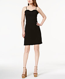 French Connection Whisper Ruth Ruffle-Trim Dress