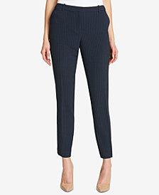 Tommy Hilfiger Pinstriped Slim-Leg Pants
