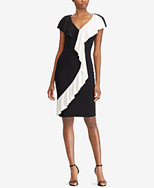 Lauren Ralph Lauren Contrast-Trim Dress